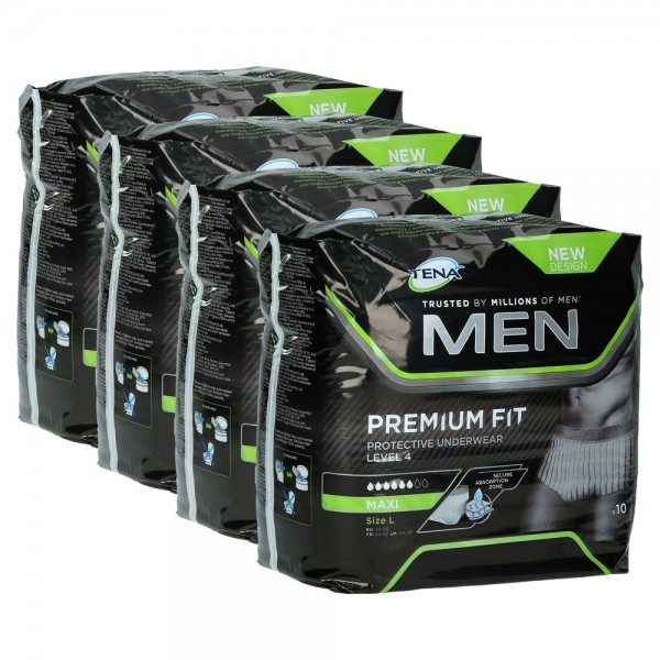 TENA MEN Level 4 Premium Fit Prot.Underwear M 4X12St